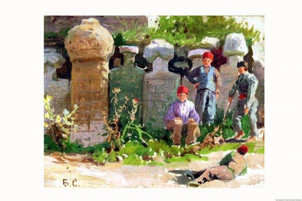 Смирнов В. Дети у могильных памятников