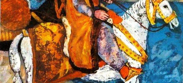 Эвлия Челеби на миниатюре 17 в.