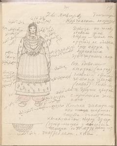 Записи из дневника У. Боданинского, 1926 г. Фонды ГБУ РК БИКАМЗ.