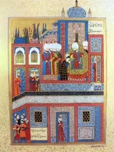 Фото 1. Прием султаном Сулейманом хана Девлета Герая.