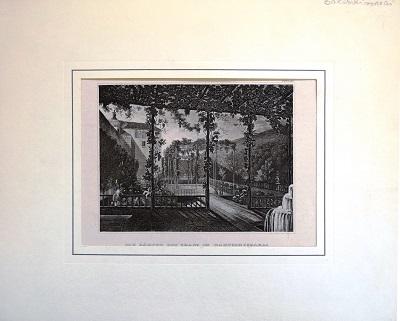 Свиньин (Тугой-Свиньин) П. П., гравюра «Сад ханов в Бахчисарае», дар г-жи Паульман.