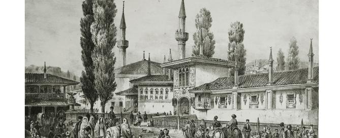 Гравюра с рис. К. Боссоли «Бахчисарай», XIX в.